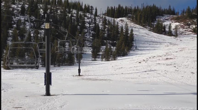 Ski areas low on snow