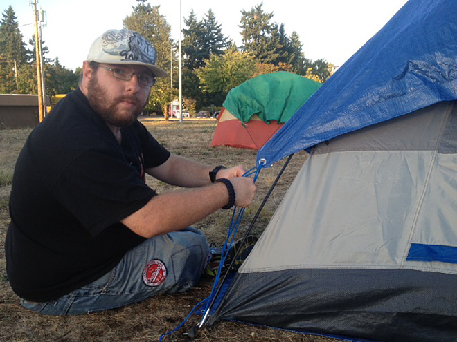 North Eugene SLEEPS camp closes after citation is issued  - Photo by Ty Steele
