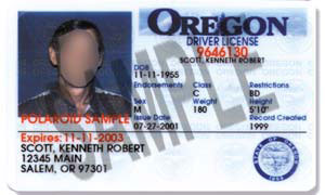 Oregon license 1997-2004