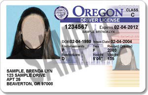 Oregon license 2004-2007