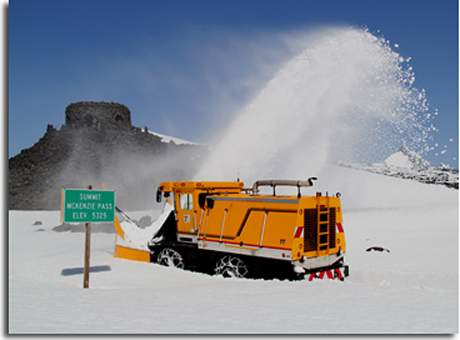 ODOT snow blower on Highway 242