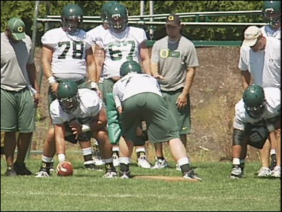 Duck Football: Who's at center?