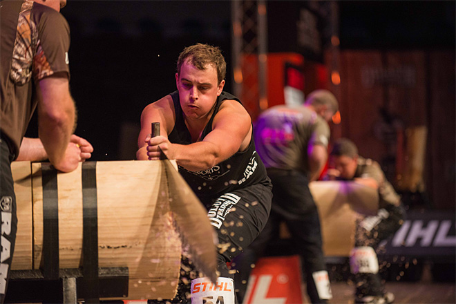 OSU student cuts his way to the Timbersports Championship