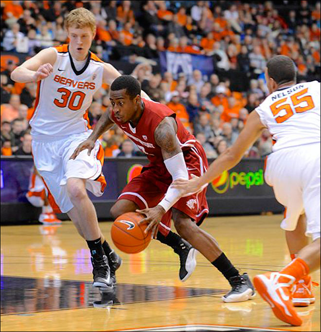 Washington State holds off Oregon State 71-68