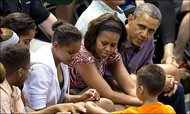 Obama watches Beavers take on Akron in Hawaii