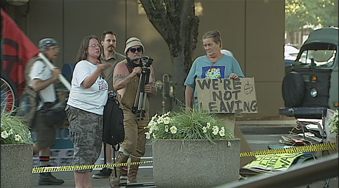 Occupy Eugene leaves federal courthouse July 11 (1)