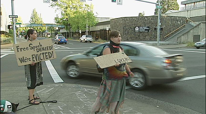 Occupy Eugene leaves federal courthouse July 11