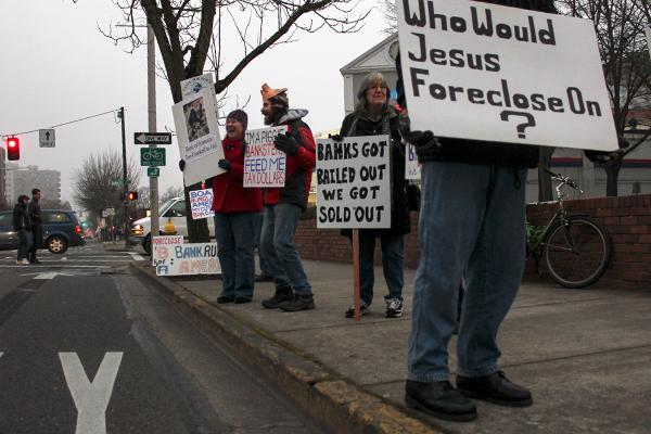 Occupy holds regular protests at bank (5)