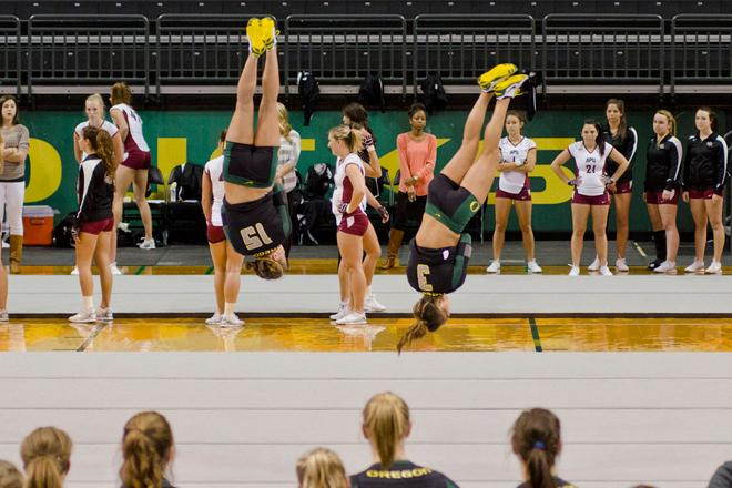 Ducks undefeated in Acrobatics and Tumbling