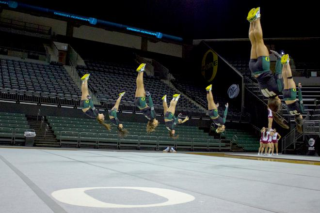 UO Acrobatics and Tumbling team routine