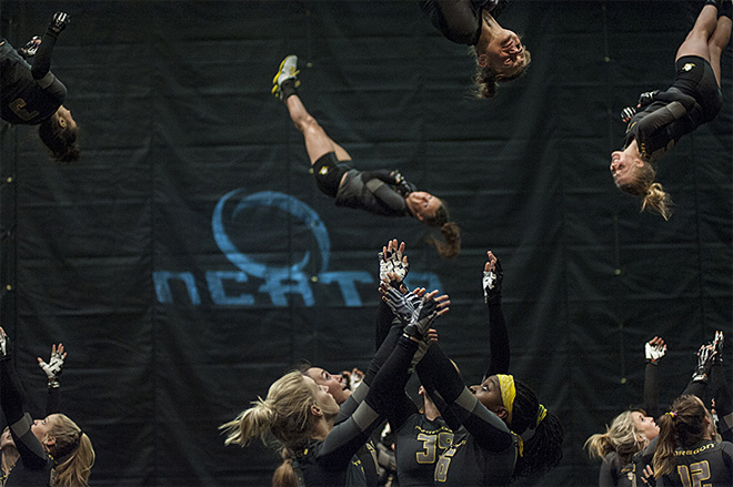 Oregon Acrobatics and Tumbling wins 4th consecutive NCATA Title - 04 - Oregon News Lab Photo