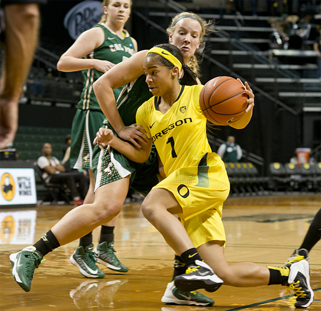 Ducks non-stop drive tops Cal Poly 124-87: 'Another Halley's Comet'