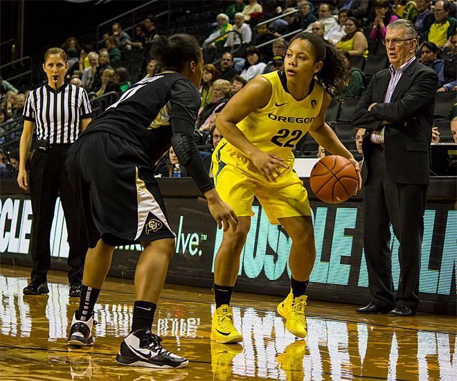 No. 19 Buffs women beat Ducks 60-49
