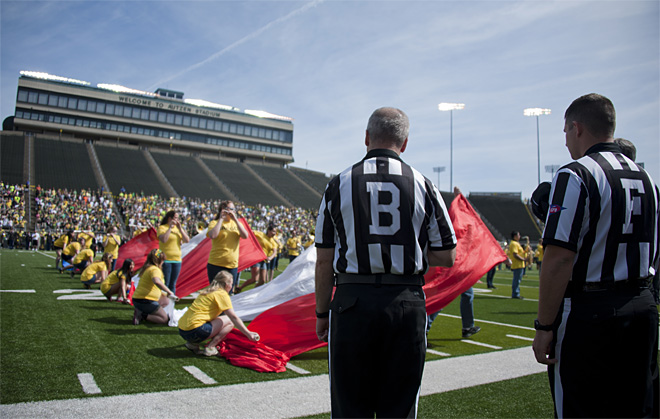 Oregon Spring Game 2013_Photo by Tristan Fortsch - KVAL News 12