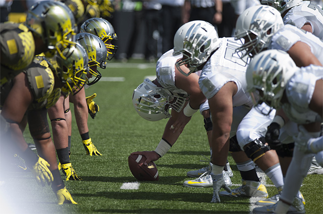 Oregon Spring Game 2013_Photo by Tristan Fortsch - KVAL News 13