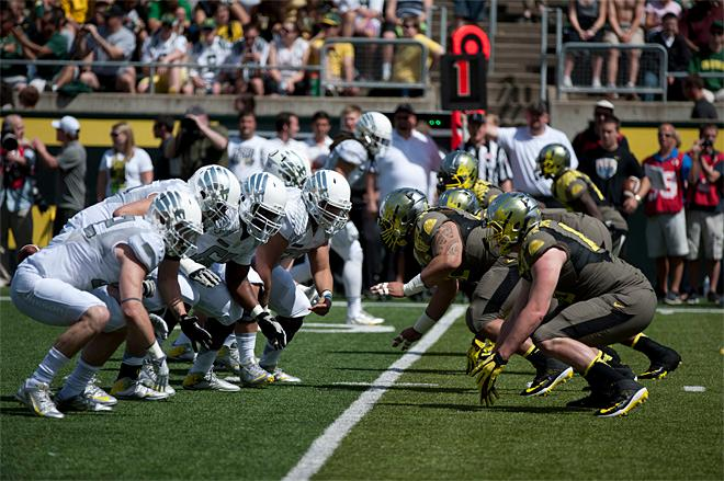 Oregon Spring Game 2013_Photo by Tristan Fortsch - KVAL News 24
