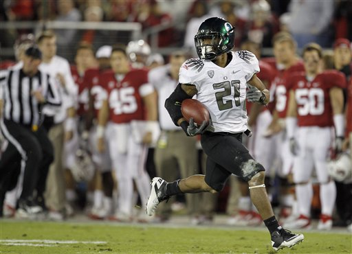 No, Luck: LMJ & Oregon beat Stanford 53-30