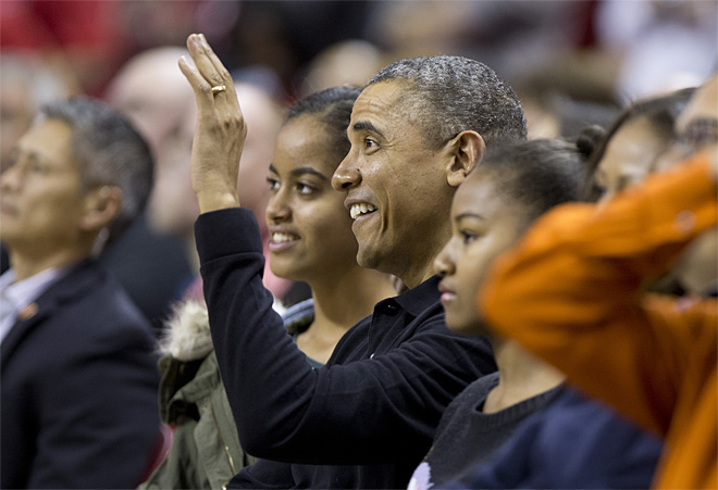 Obama Beavers Terrapins Basketball