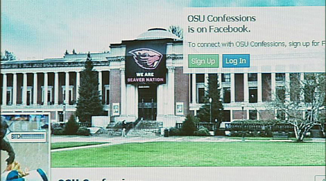 'Confessions' Facebook pages a concern for OSU