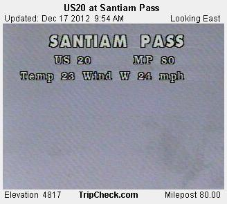 Oregon mountain passes December 17 (1)
