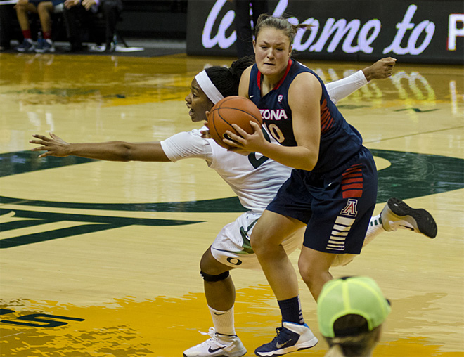 Oregon women power past Arizona for 90-78 win in season finale