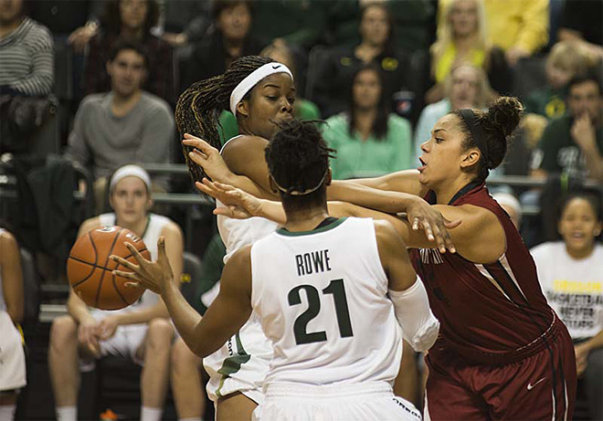Oregon women take 82-66 victory over Washington State 04