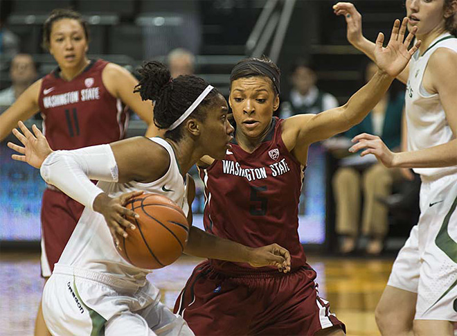 Oregon women take 82-66 victory over Washington State 08