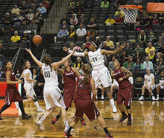 Oregon women take 82-66 victory over Washington State 09
