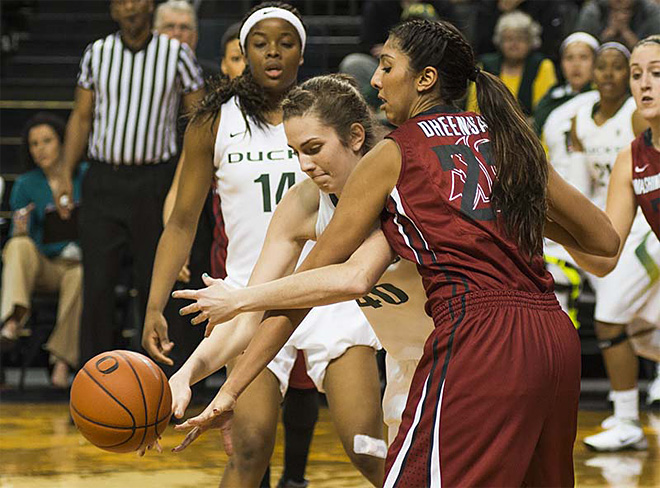Oregon women take 82-66 victory over Washington State 11