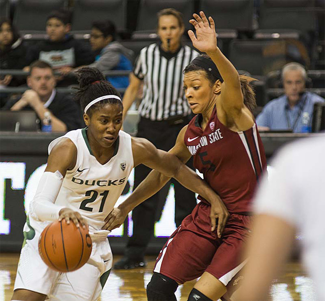 Oregon women take 82-66 victory over Washington State 12