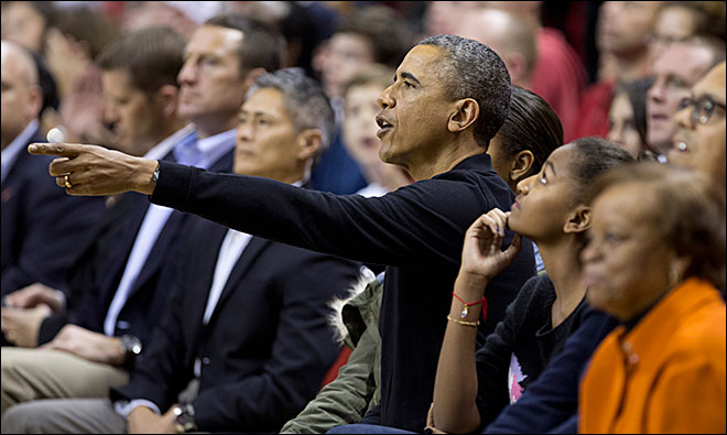 Obama watches as Oregon State stuns Maryland 90-83