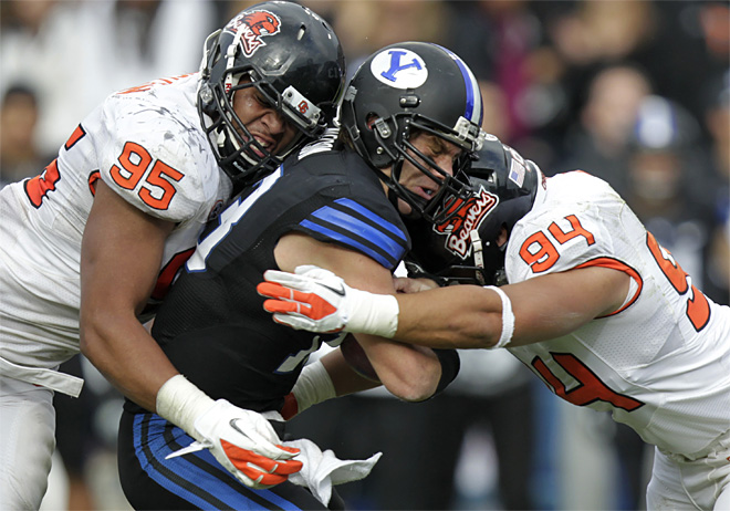 APTOPIX Oregon St BYU Football