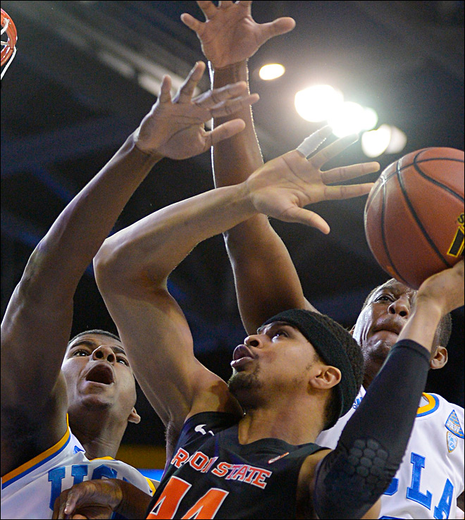 Adams, Anderson lead UCLA past Oregon State 74-69