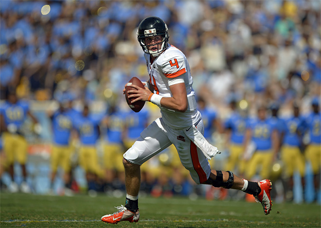 OSU QB Mannion out for knee surgery just as Beavers crack Top 10