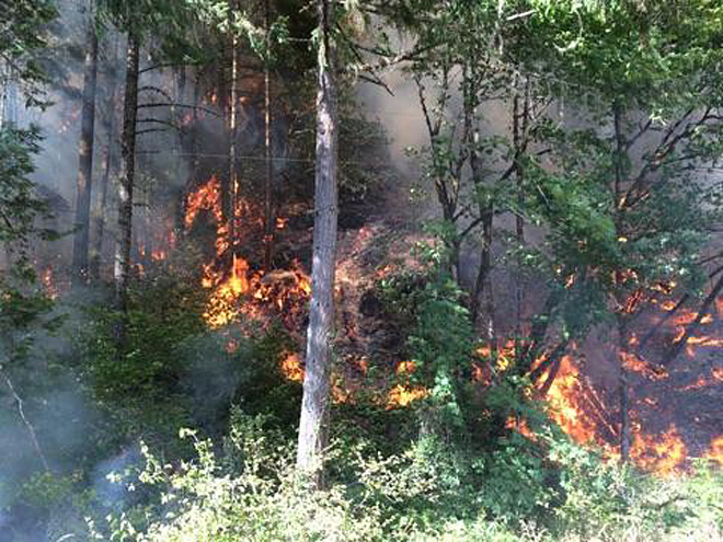 Hwy 138 East closed due to wildfire near Glide