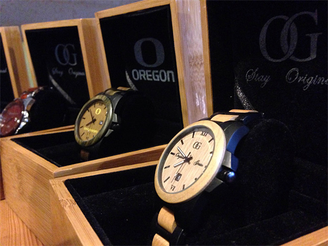Recycled wood + watches = homegrown company