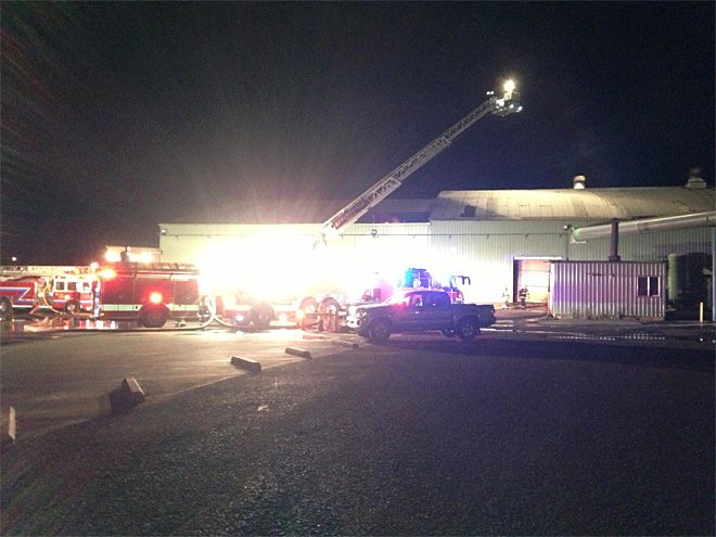 Pacific States Plywood mill catches fire early Friday morning  01