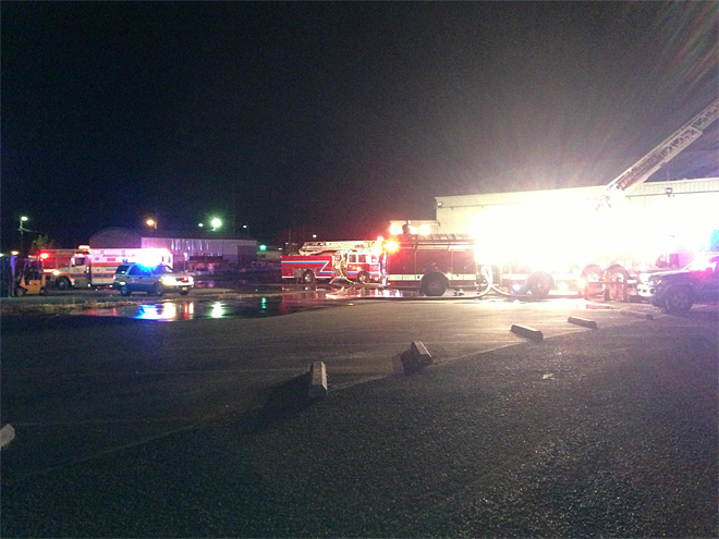 Pacific States Plywood mill catches fire early Friday morning  02