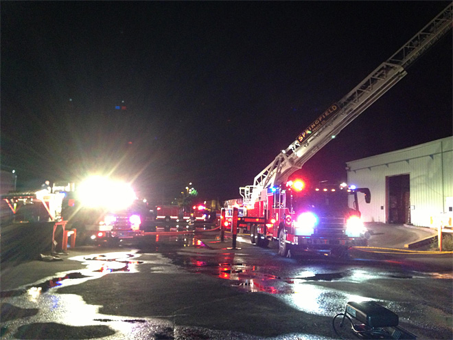 Pacific States Plywood mill catches fire early Friday morning  03