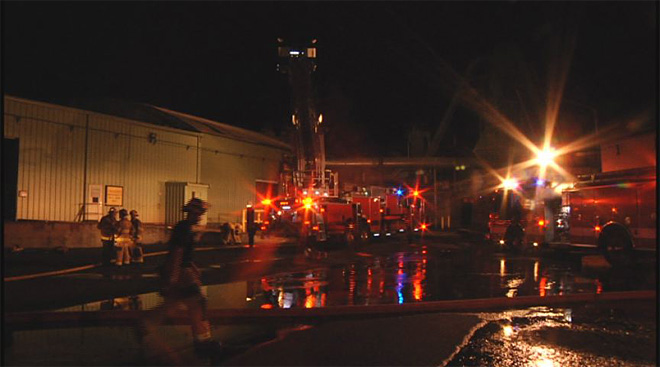 Pacific States Plywood mill catches fire early Friday morning  04
