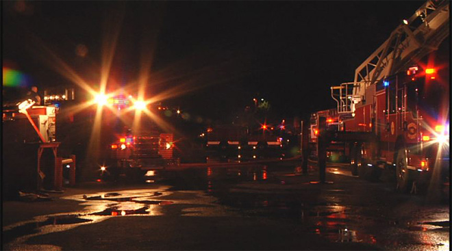 Pacific States Plywood mill catches fire early Friday morning  05