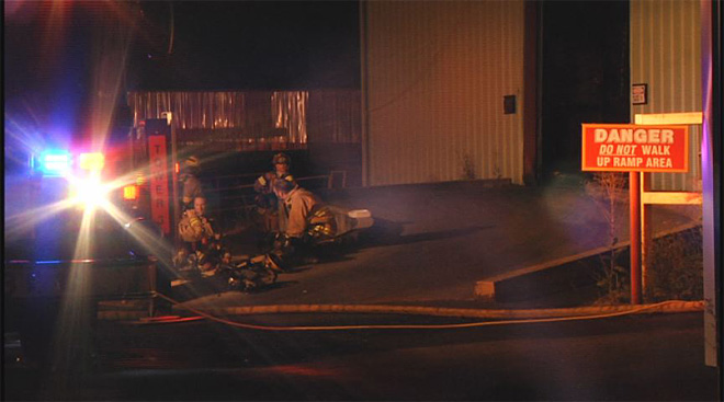 Pacific States Plywood mill catches fire early Friday morning  06