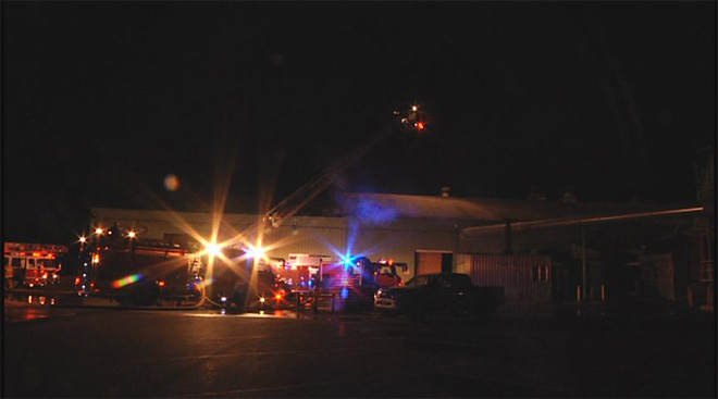 Pacific States Plywood mill catches fire early Friday morning  07