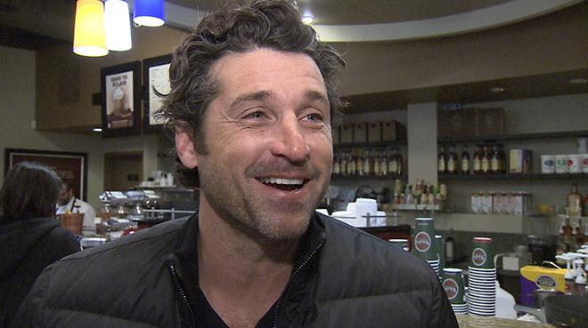 Patrick Dempsey visits Tully's in Seattle
