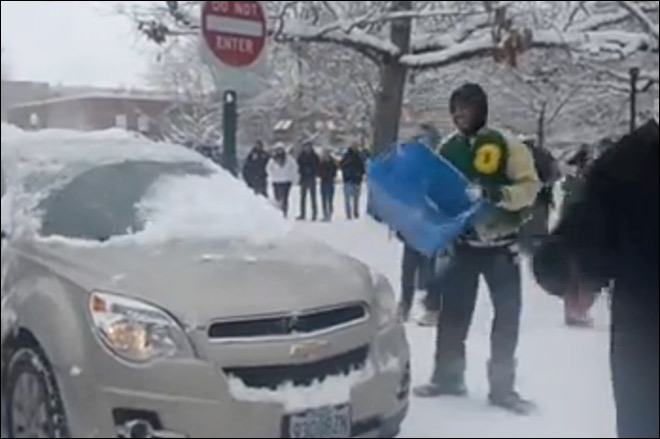 Duck football player suspended from bowl for 'snowball incident'