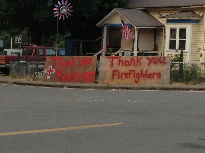 Group accepting donations for firefighters