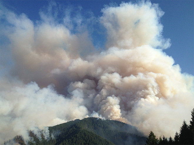 Forest fires choke air with hazardous smoke