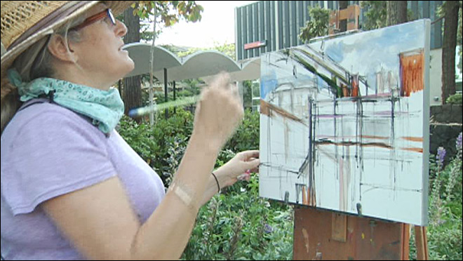 Artists spend half-day painting the town in competition