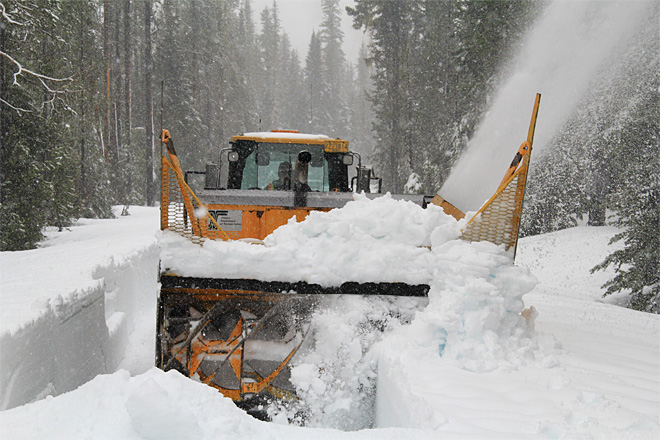 Plowing McKenzie Pass: 'You can probably walk faster'