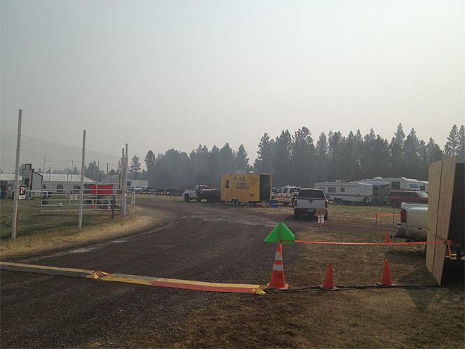 Pole Creek fire camp September 17